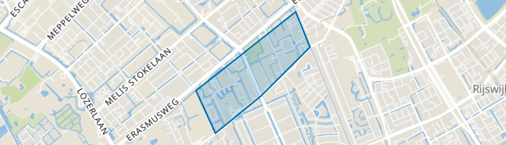 Erasmus Veld, Den Haag map