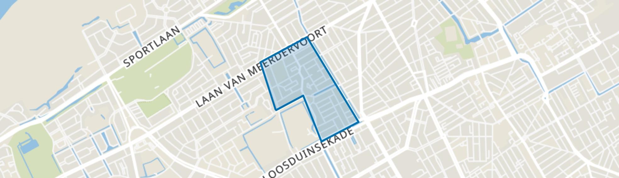 Heesterbuurt, Den Haag map