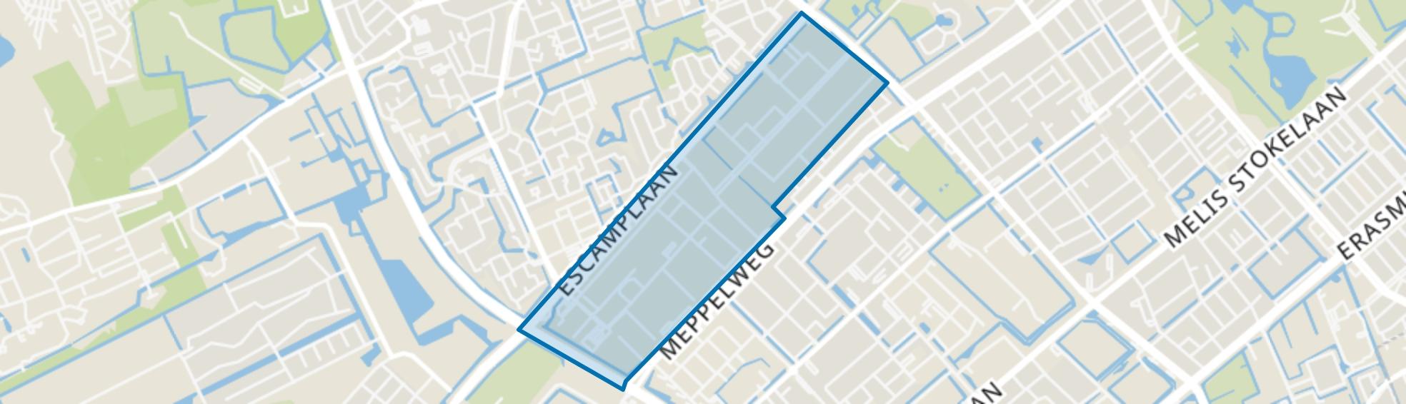 Kerketuinen en Zichtenburg, Den Haag map