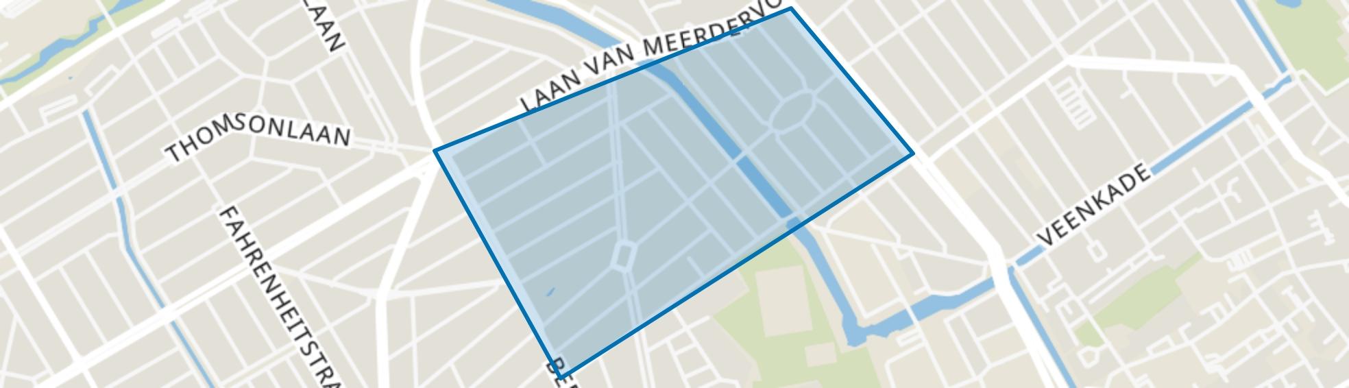 Koningsplein en omgeving, Den Haag map