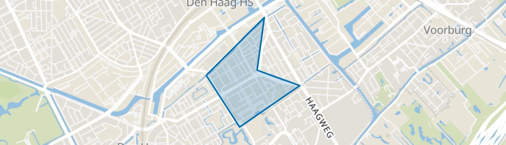 Laakkwartier-Oost, Den Haag map