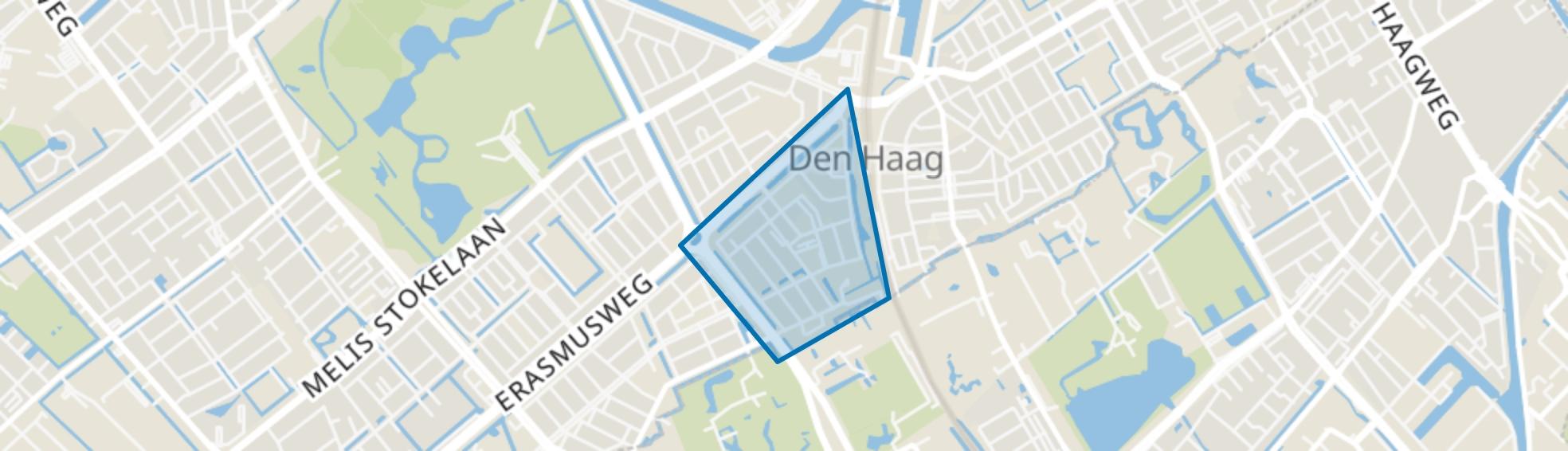 Moerwijk-Oost, Den Haag map