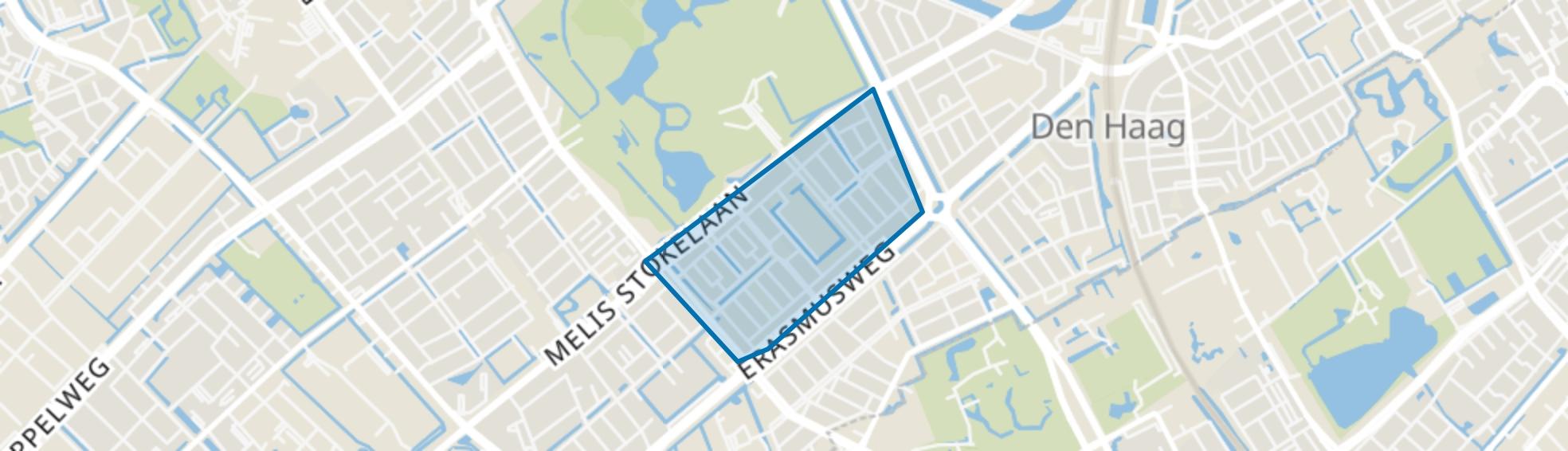 Moerwijk-West, Den Haag map