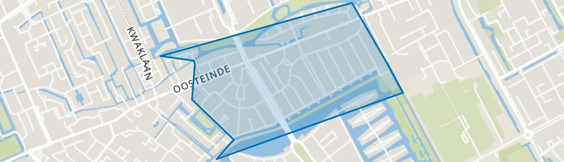 Parkbuurt oosteinde, Den Haag map