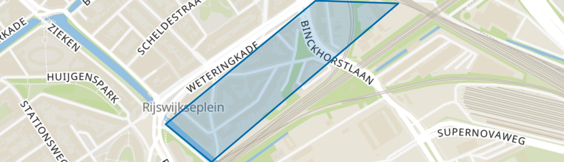 Rivierenbuurt-Zuid, Den Haag map