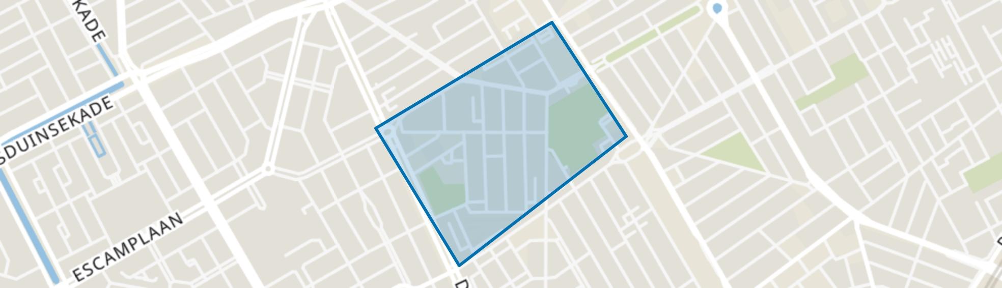Transvaalkwartier-Midden, Den Haag map