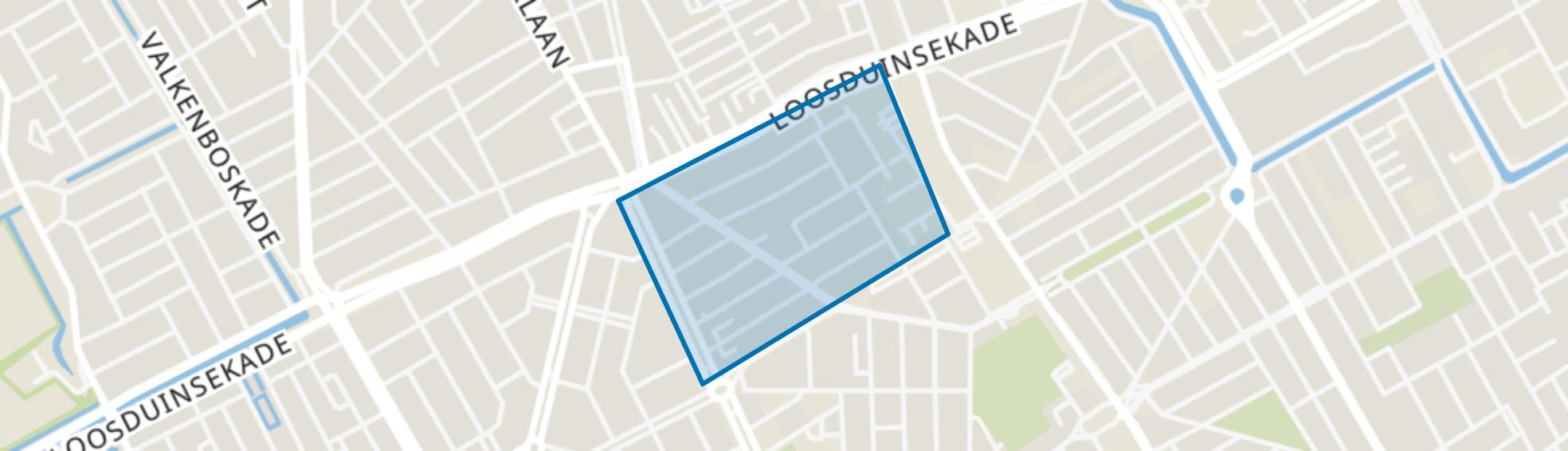 Transvaalkwartier-Noord, Den Haag map