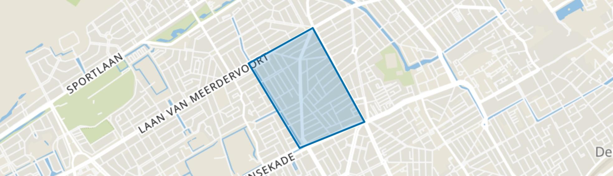 Valkenboskwartier, Den Haag map