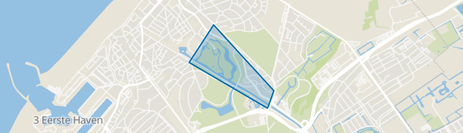 Westbroekpark, Den Haag map