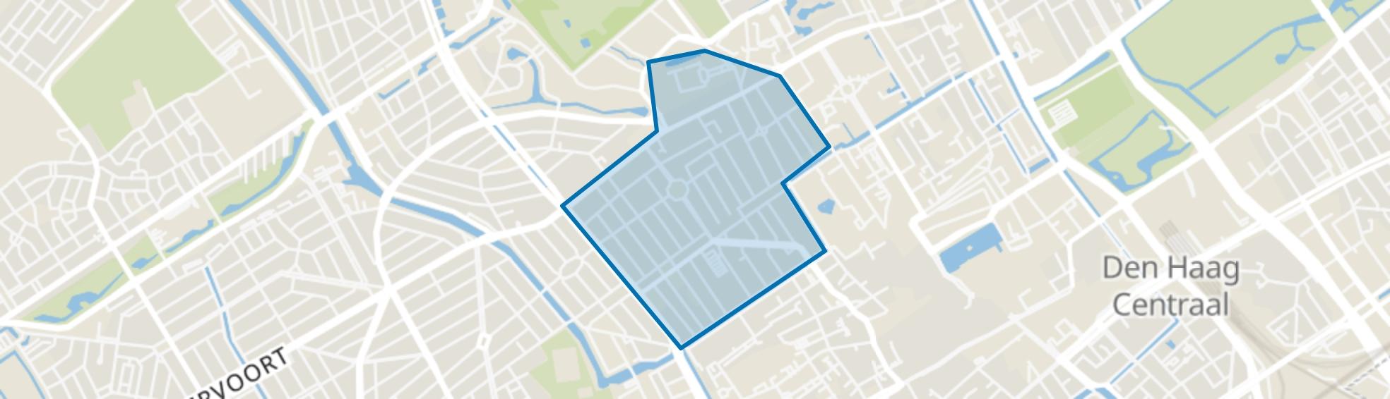 Zeeheldenkwartier, Den Haag map