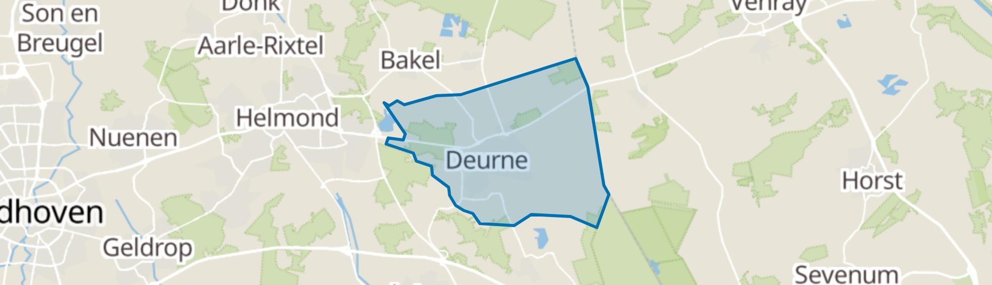 Deurne map