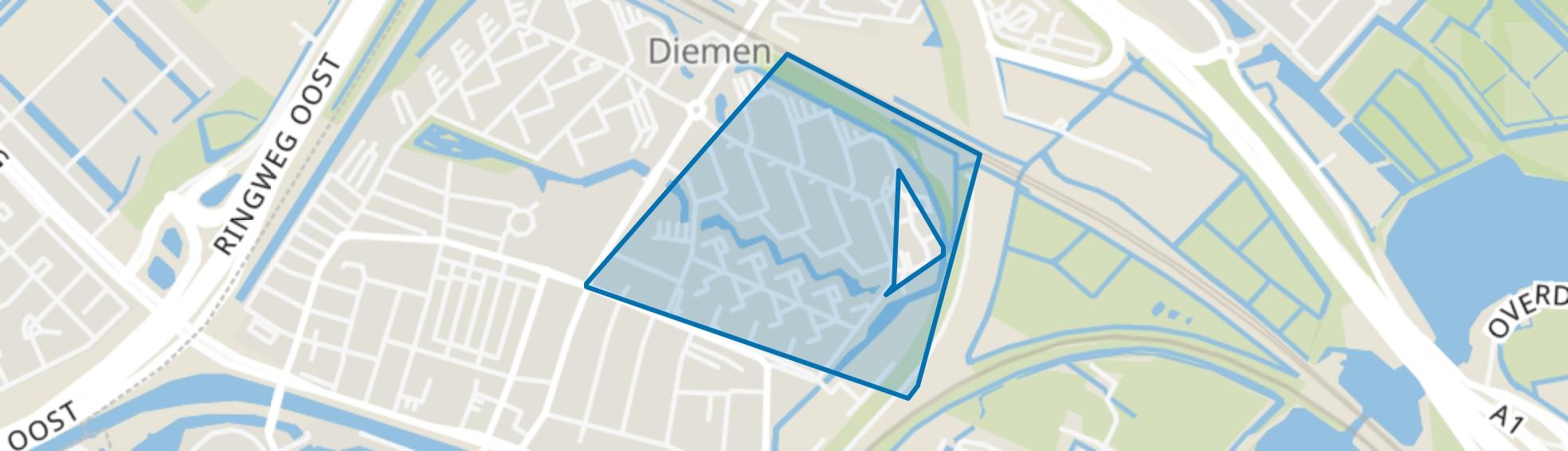 Ruimzicht Oost, Diemen map