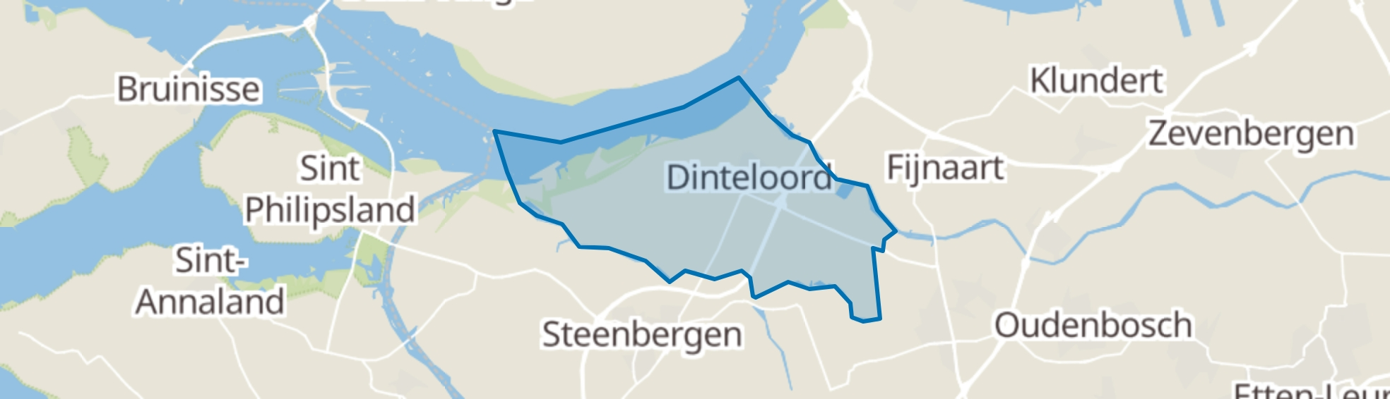 Dinteloord map