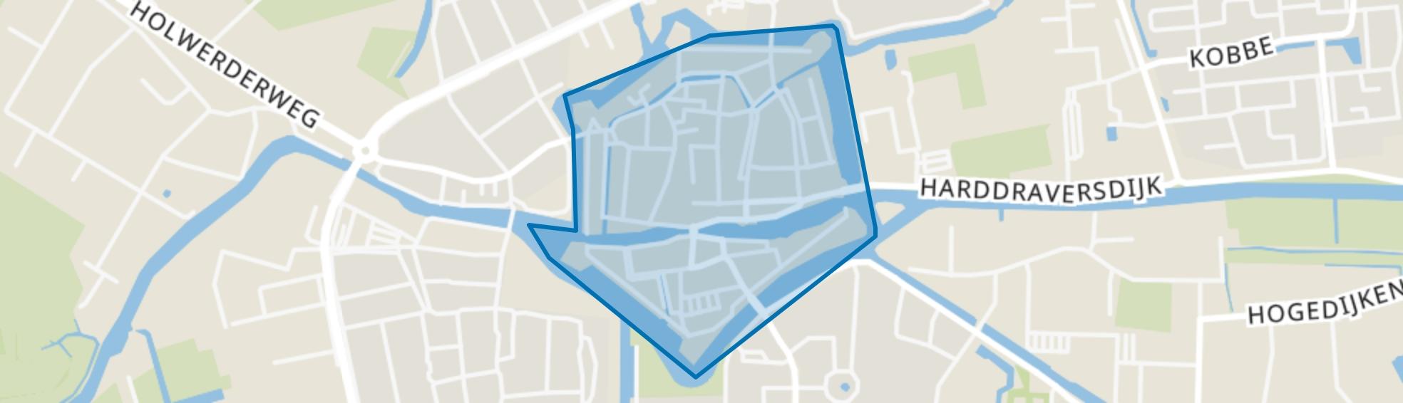 Dokkum binnen de Bolwerken, Dokkum map