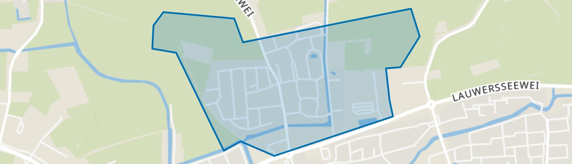 Dokkum Weeshuislanden, Dokkum map