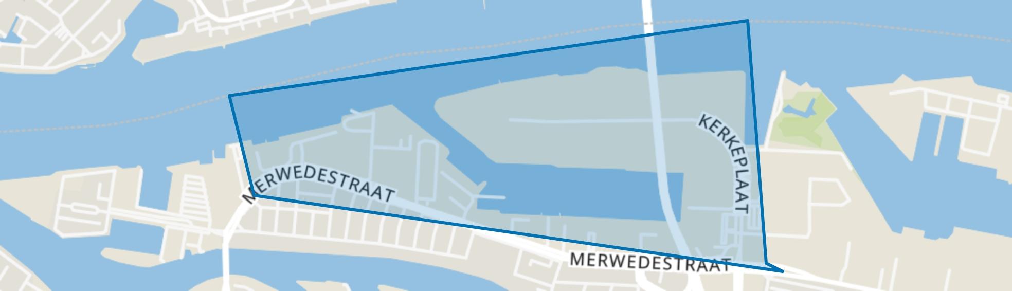 1e Merwedehaven en omgeving, Dordrecht map