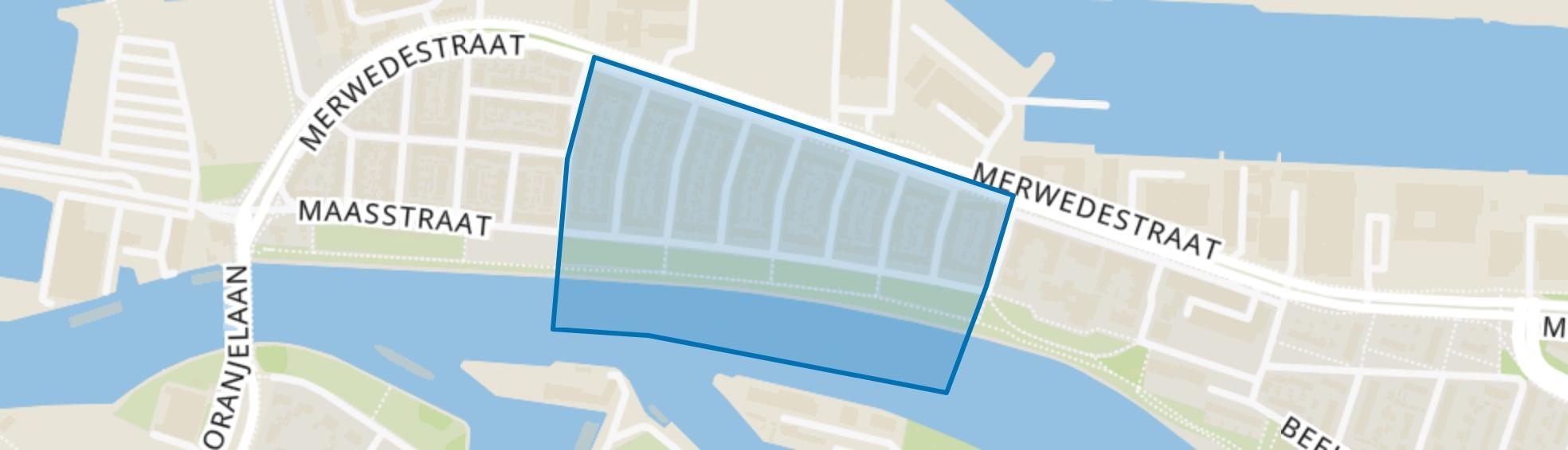 Amerstraat en omgeving, Dordrecht map