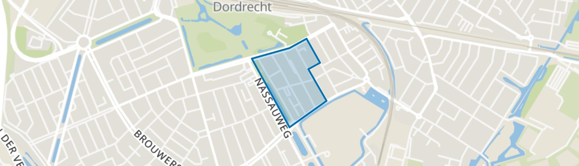 Anna Paulownastraat en omgeving, Dordrecht map