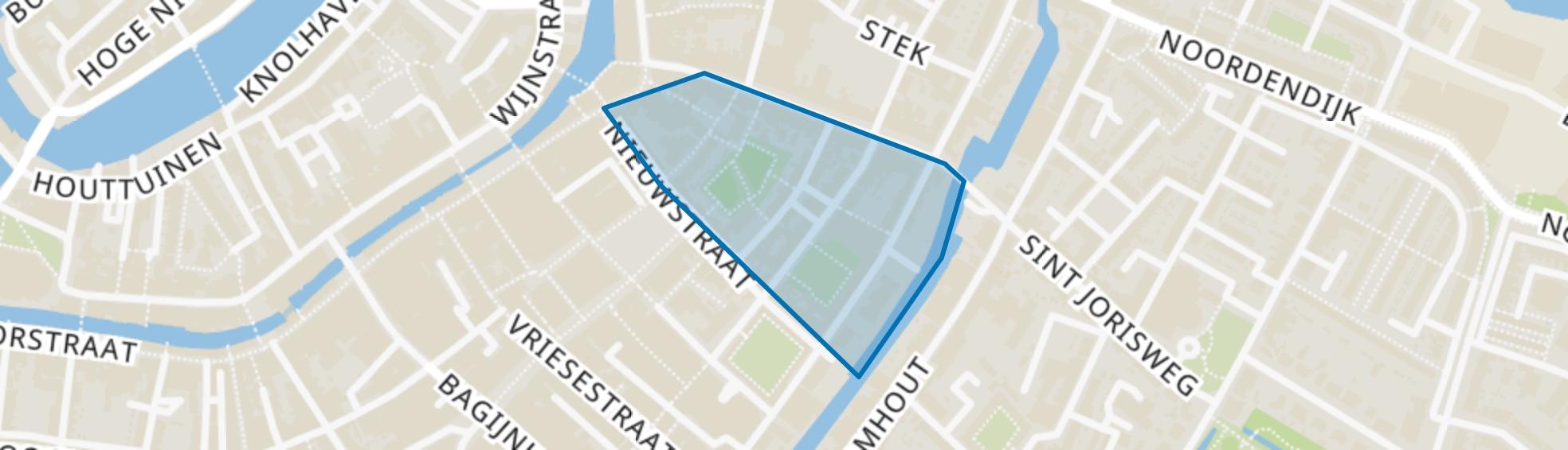 Augustijnenkamp en omgeving, Dordrecht map