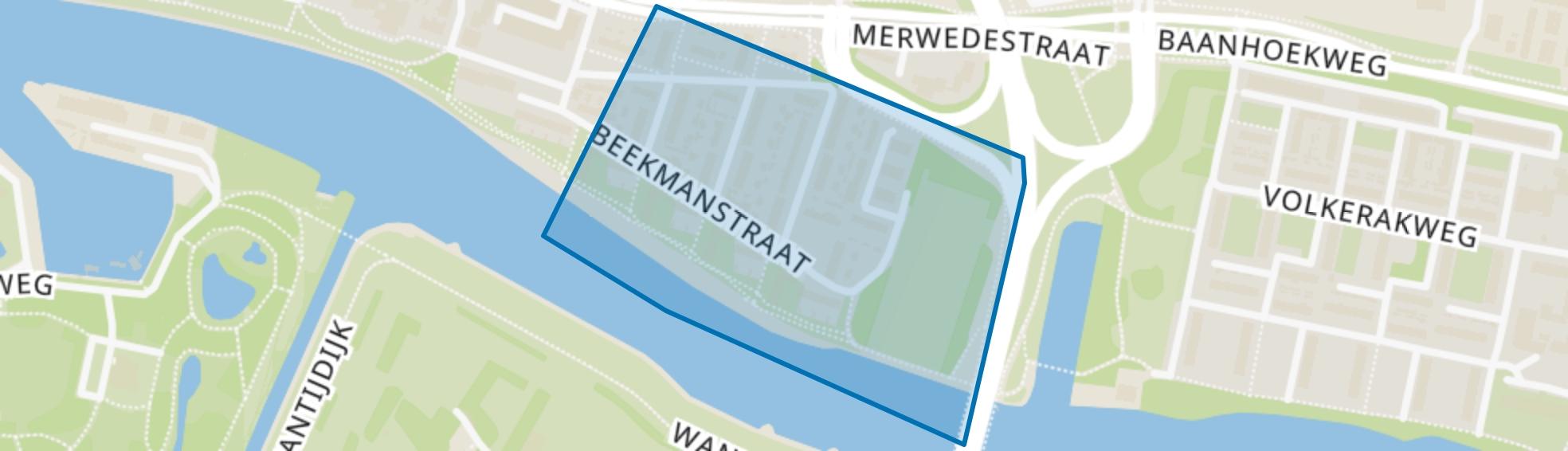 Beekmanstraat en omgeving, Dordrecht map