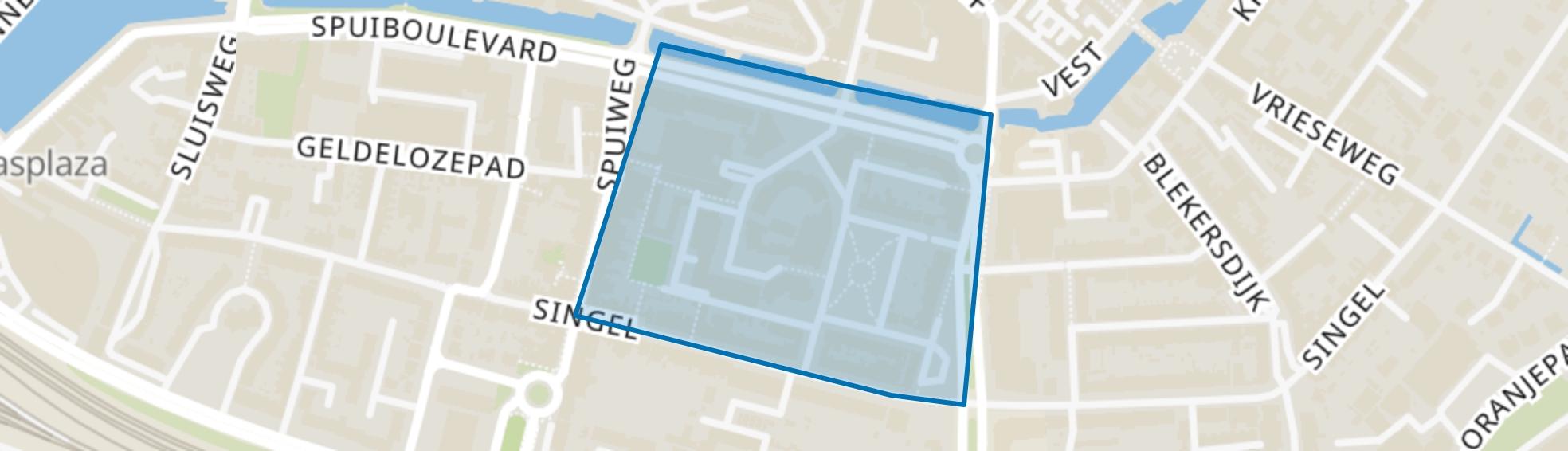 Beverwijcksplein en omgeving, Dordrecht map