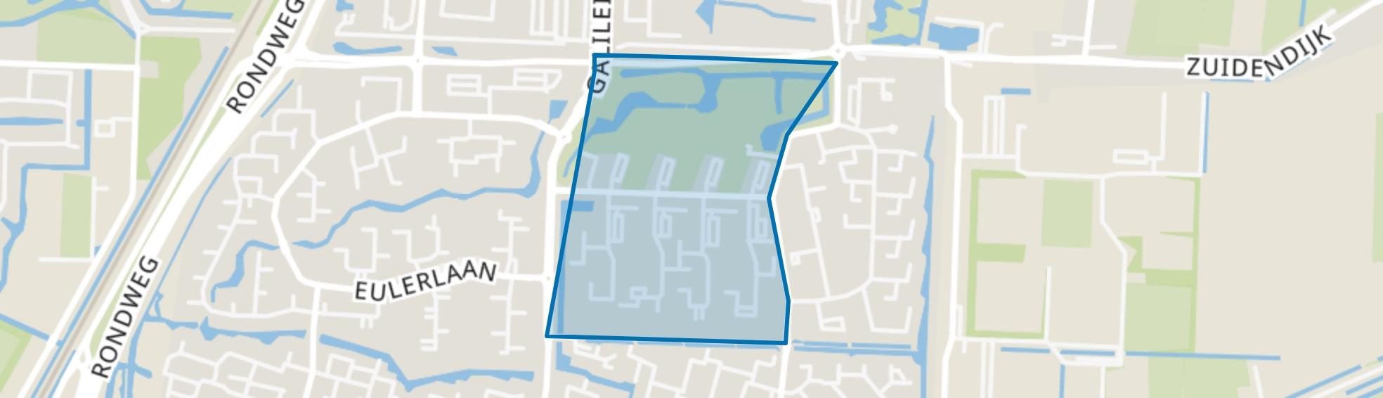 Blaauwweg en omgeving, Dordrecht map