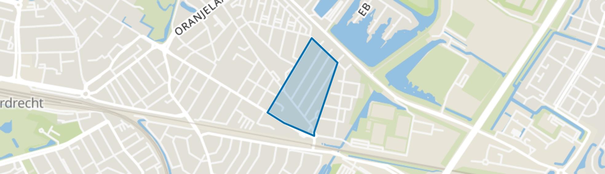 Boeroestraat en omgeving, Dordrecht map