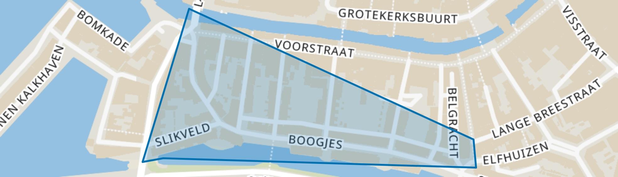 Boogjes en omgeving, Dordrecht map