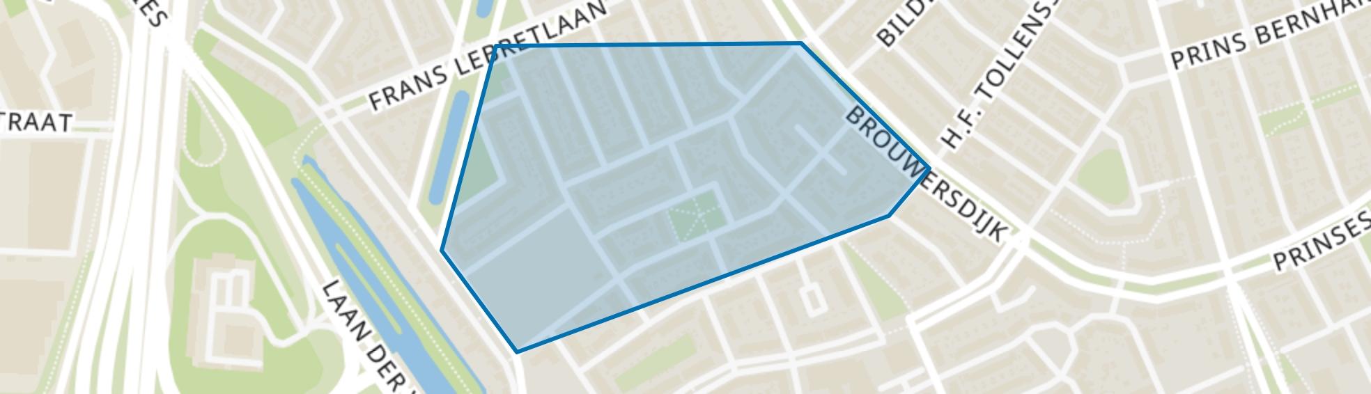 Breitnerstraat en omgeving, Dordrecht map
