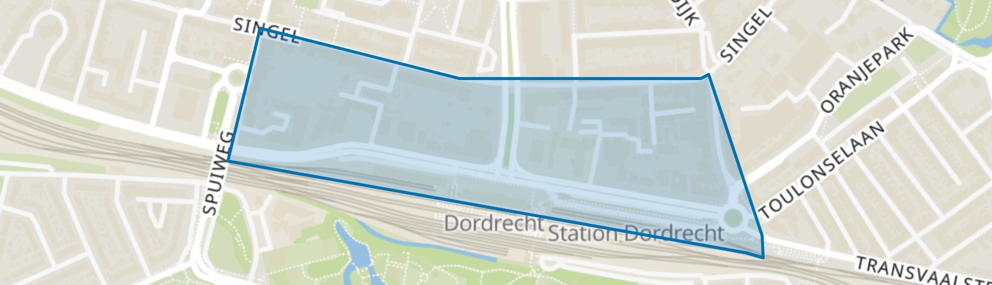 Burgemeester de Raadtsingel en omgeving, Dordrecht map