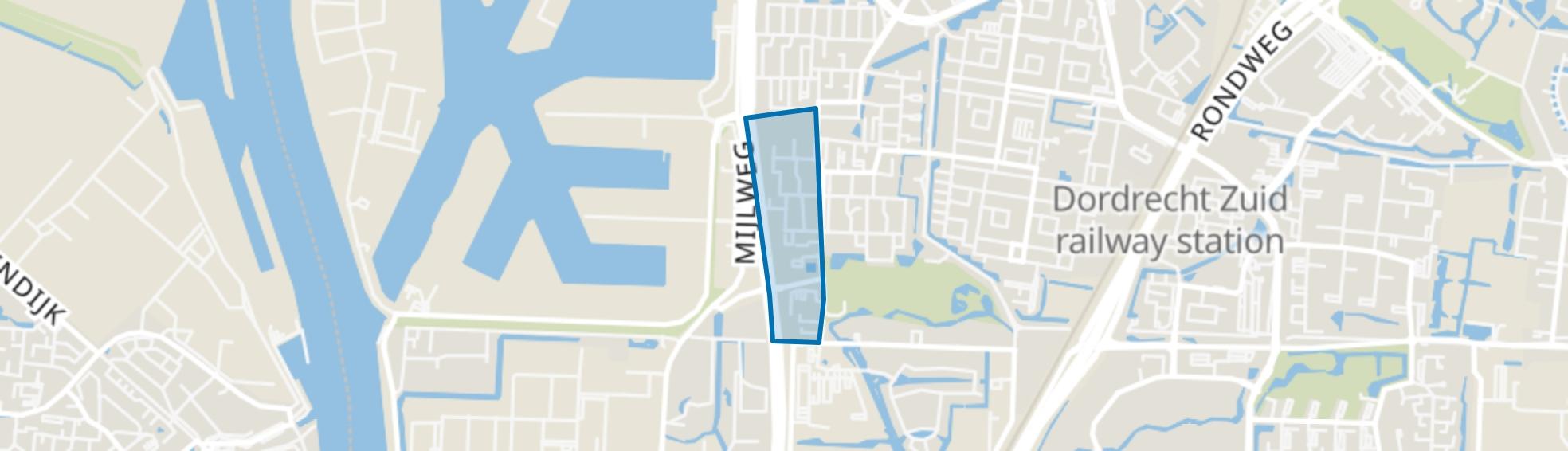 Cornelis Evertsenstraat en omgeving, Dordrecht map