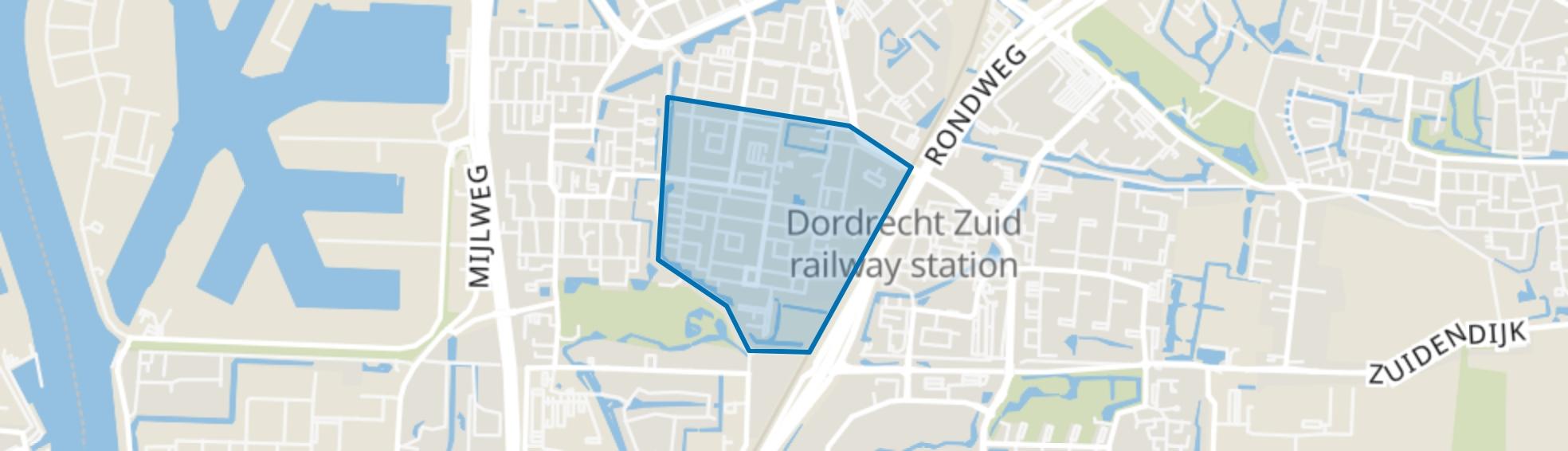 Crabbehof-Zuid, Dordrecht map
