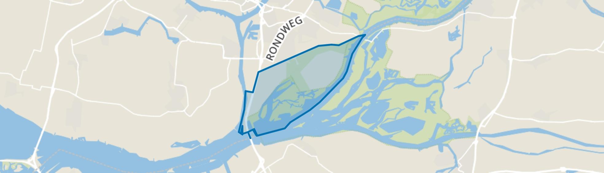 Dordtse Biesbosch, Dordrecht map