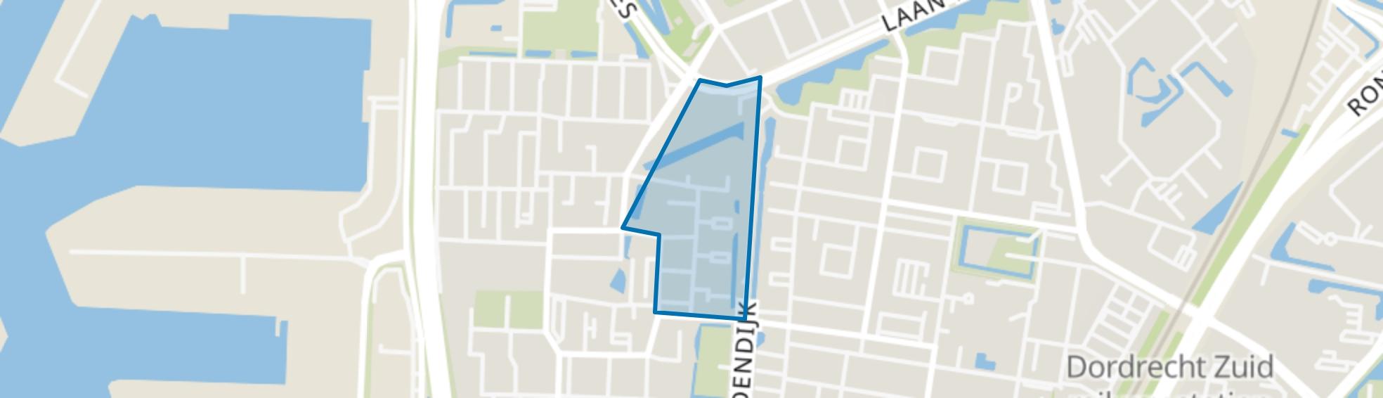 Dorus Rijkersstraat en omgeving, Dordrecht map