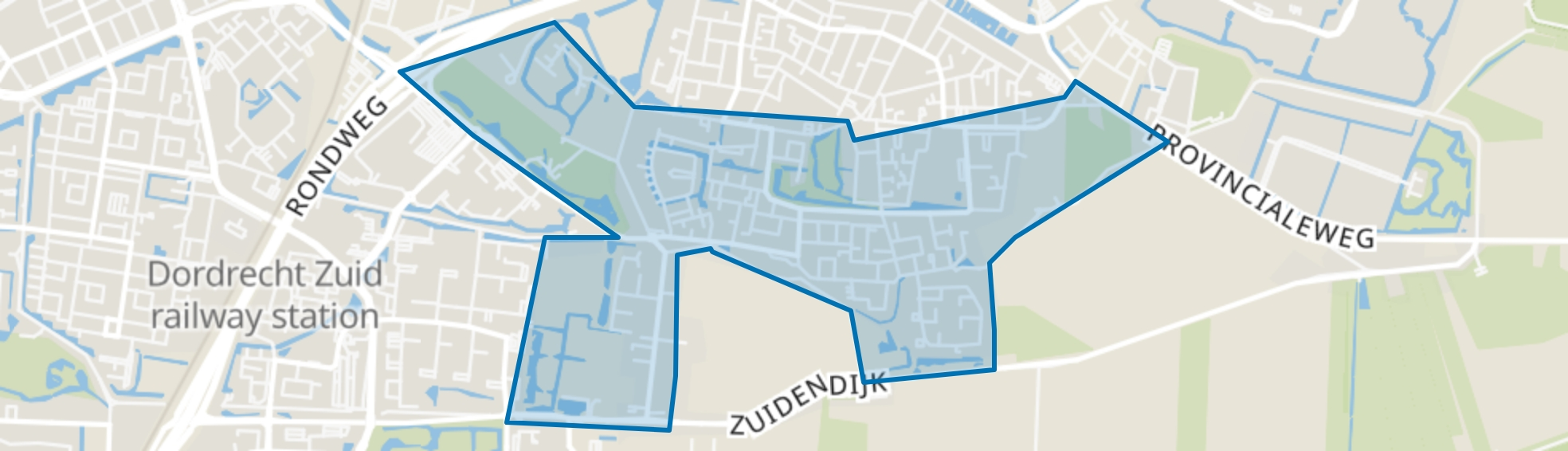 Dubbeldam-Zuid, Dordrecht map