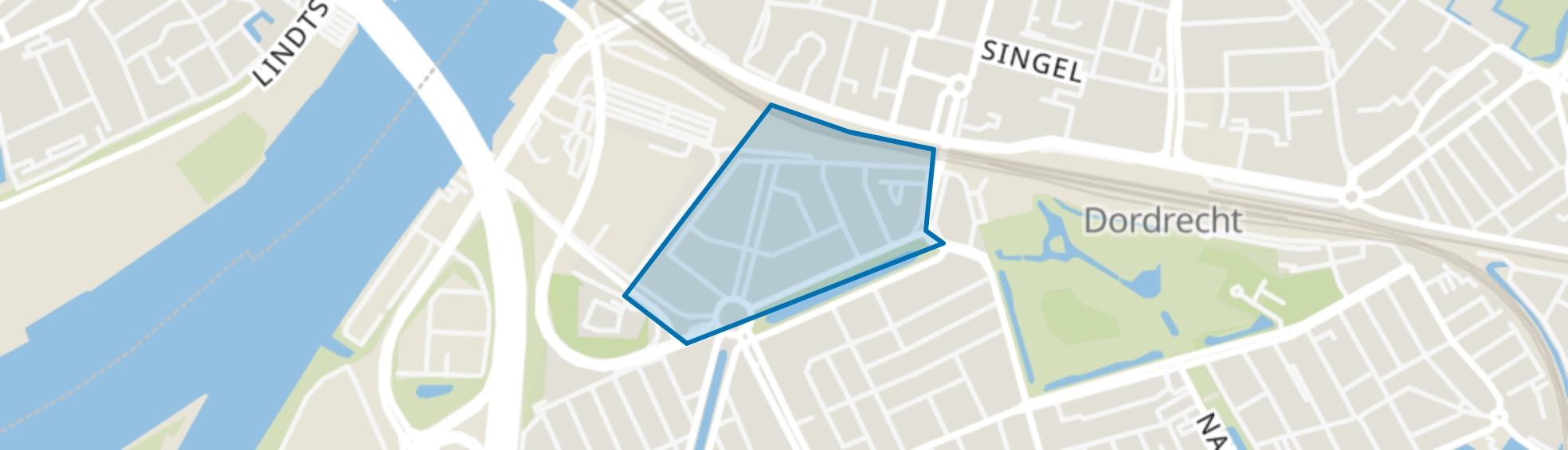 Erasmuslaan en omgeving, Dordrecht map