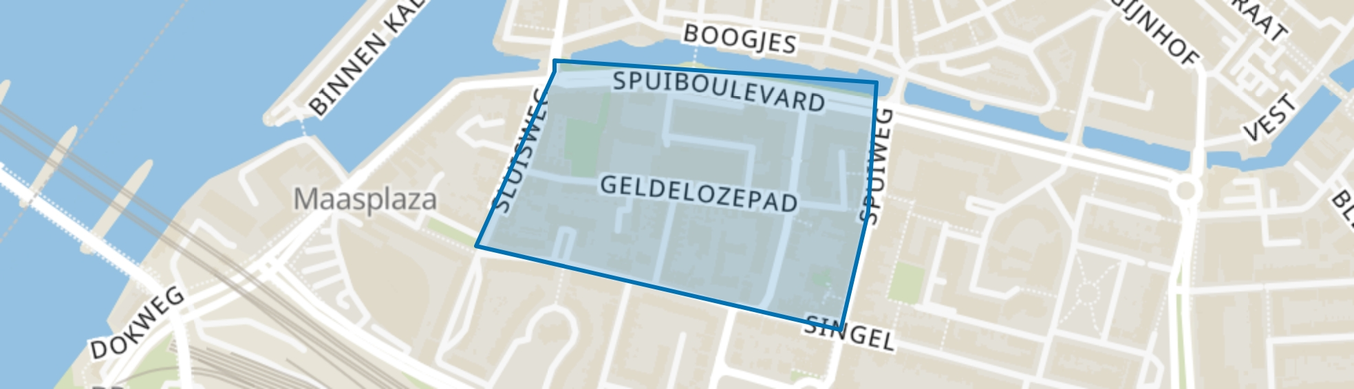 Geldelozepad en omgeving, Dordrecht map