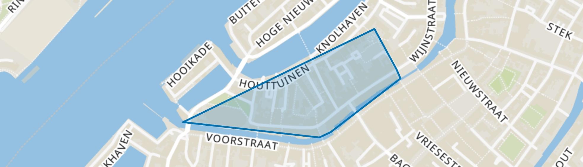 Groenmarkt en omgeving, Dordrecht map