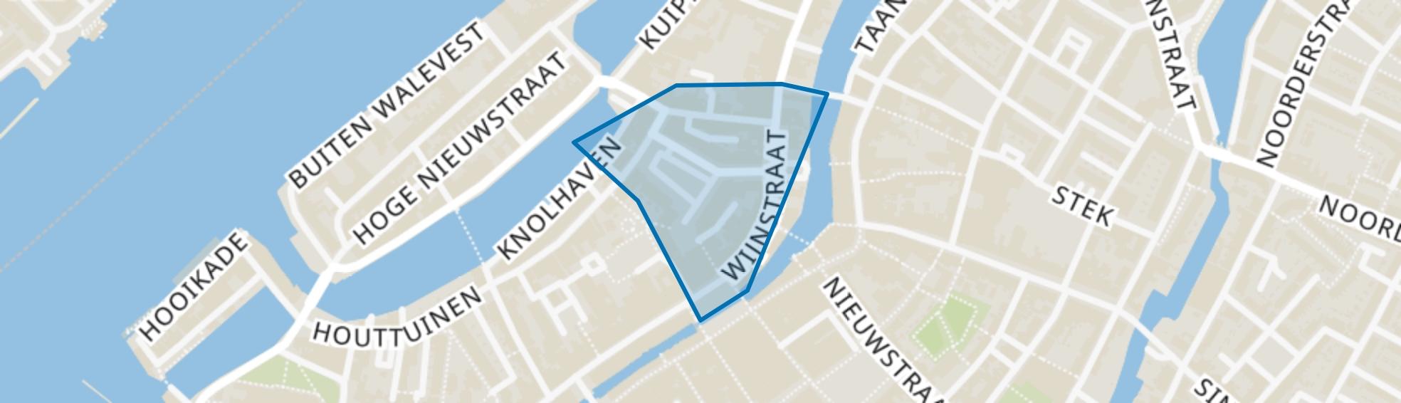 Grote Markt en omgeving, Dordrecht map