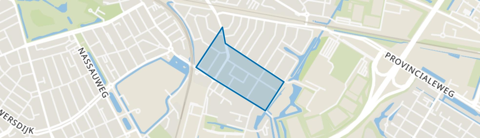 Heysterbachstraat en omgeving, Dordrecht map