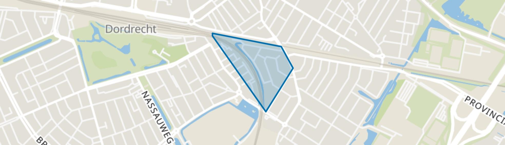 Hoekenessestraat en omgeving, Dordrecht map