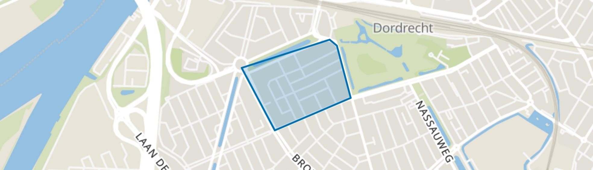 Jacob Catsstraat en omgeving, Dordrecht map