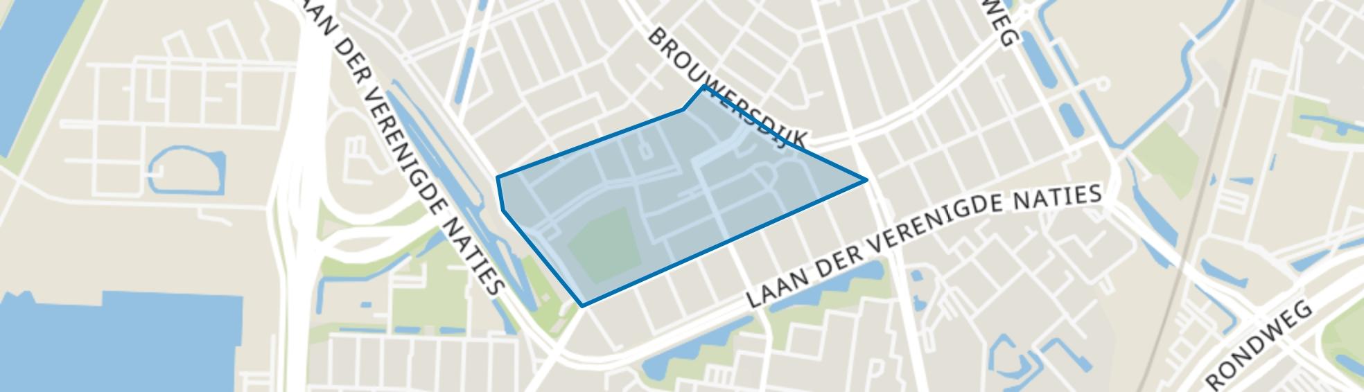 Jacob Marisstraat en omgeving, Dordrecht map