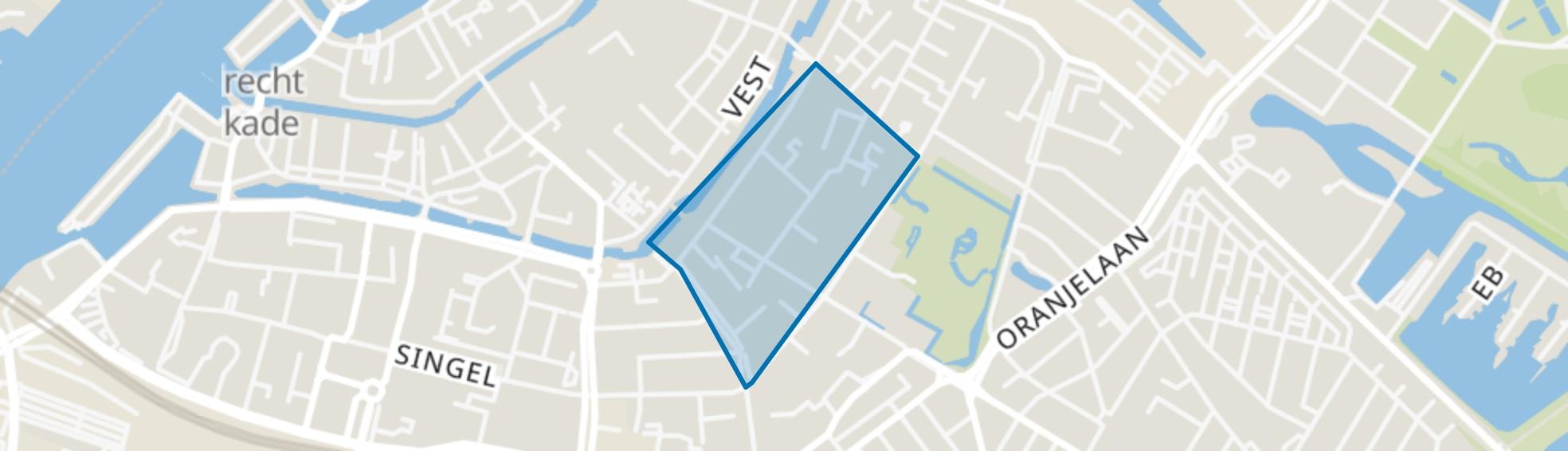 Kasperspad en omgeving, Dordrecht map