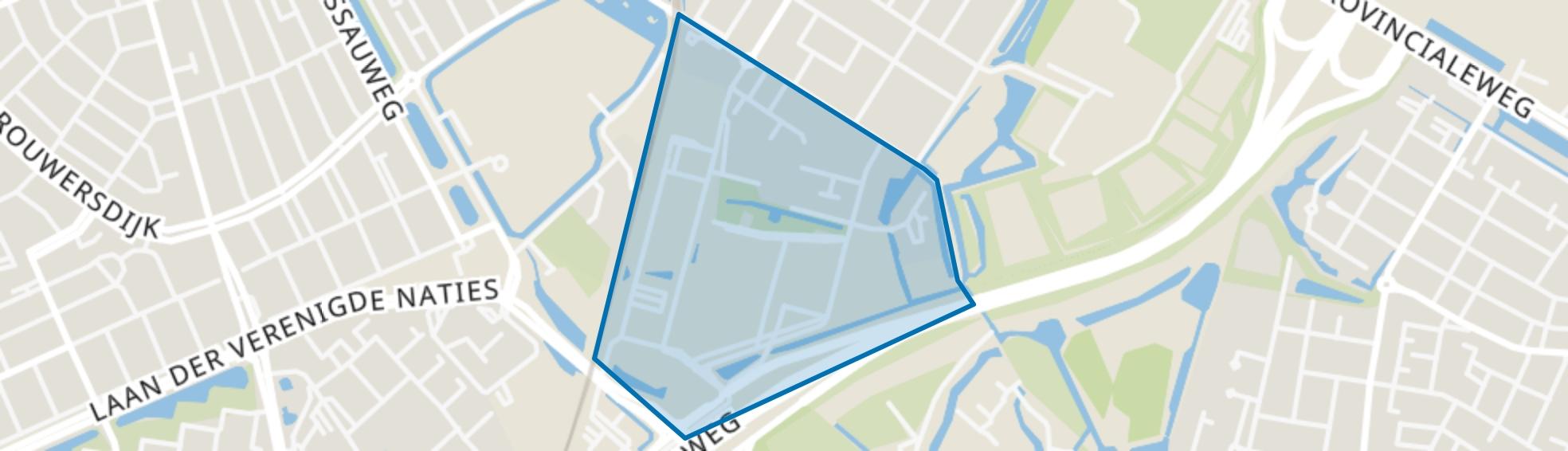 Maria Montessorilaan en omgeving, Dordrecht map
