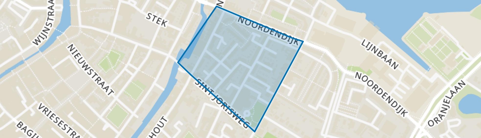 Matena's Pad en omgeving, Dordrecht map