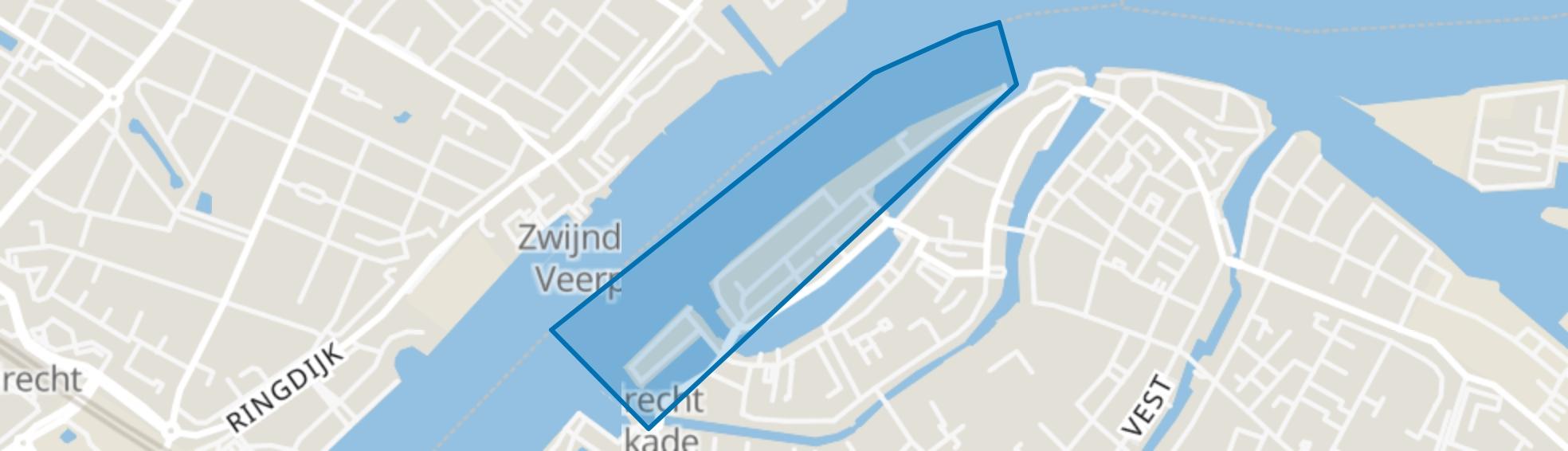 Nieuwe Haven en omgeving, Dordrecht map