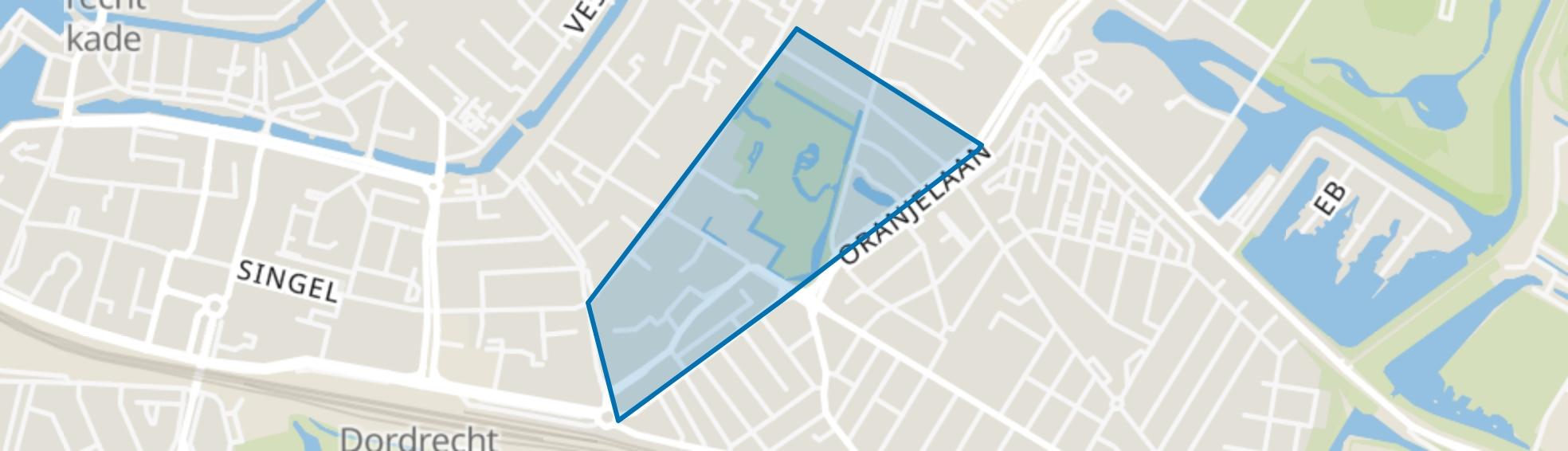 Park Merwestein en omgeving, Dordrecht map