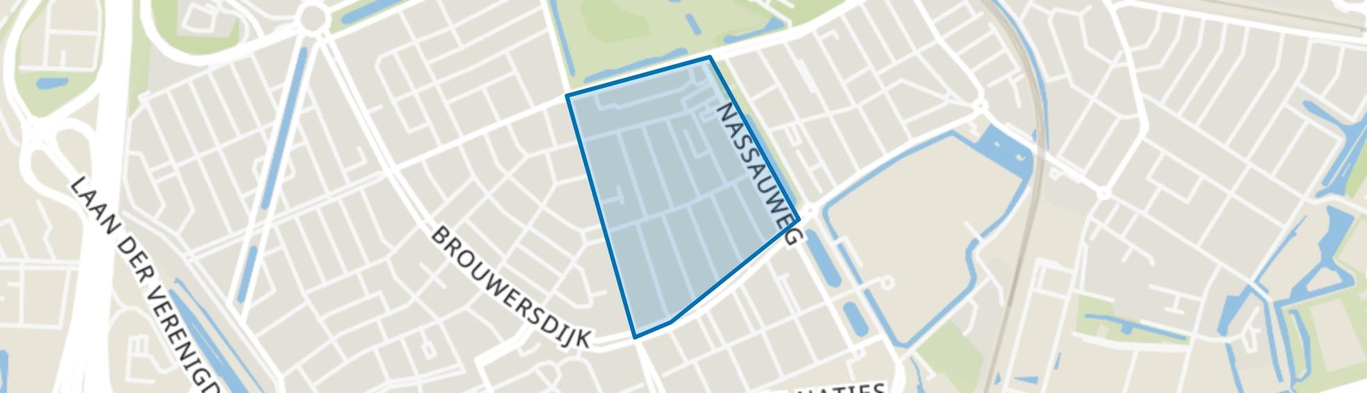 Pr. Bernhardstraat en omgeving, Dordrecht map