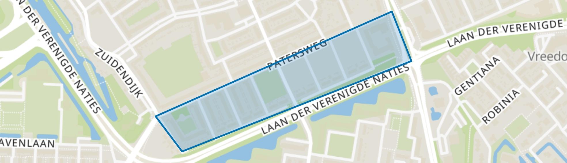 Rembrandtlaan en omgeving, Dordrecht map